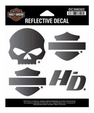 Harley-Davidson® Night Rider Reflective Decal, SM Size - 4.125 x 3.75 in DC306302 - Wisconsin Harley-Davidson