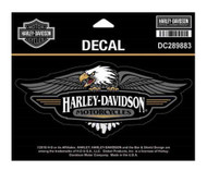 Harley-Davidson® Vintage Eagle Logo Decal, MD Size - 6 x 2.5 inches DC289883 - Wisconsin Harley-Davidson