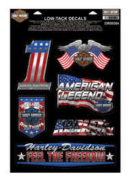Harley-Davidson® Patriotic Assortment Chrome Window Cling - 8.5 x 12.5 in DW88584 - Wisconsin Harley-Davidson