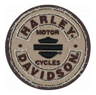 Harley-Davidson® Embroidered Blank B&S Rockers Emblem Patch, SM 3.75 in EM297042 - Wisconsin Harley-Davidson