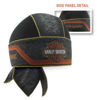 Harley-Davidson® Men's Bar & Shield Asphalt Mesh Headwrap, Black HW29464 - Wisconsin Harley-Davidson