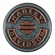 Harley-Davidson® Blank B&S Rockers Pin, Antiqued Silver & Copper Finish P297061 - Wisconsin Harley-Davidson