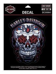 Harley-Davidson® Muertos Skull Decal, MD Size - 5.25 x 6.375 inches DC300843 - Wisconsin Harley-Davidson