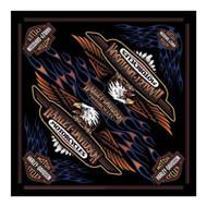 Harley-Davidson® Men's Vintage Logo Bandana - Black, 24 x 24 inch BA28966 - Wisconsin Harley-Davidson