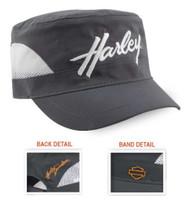 Harley-Davidson® Women's Sport H-D Mesh Painter's Cap, Gray & White PC28854 - Wisconsin Harley-Davidson