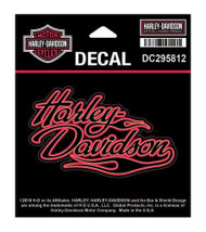 Harley-Davidson® Flames H-D Decal, SM Size - 4 x 2.4375 inches DC295812 - Wisconsin Harley-Davidson
