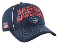 Harley-Davidson® Men's Embroidered H-D Pride Baseball Cap, Navy BCC29984 - Wisconsin Harley-Davidson