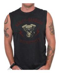 Harley-Davidson® Men's Genuine Parts Premium Sleeveless Muscle Tank, Black Wash - Wisconsin Harley-Davidson