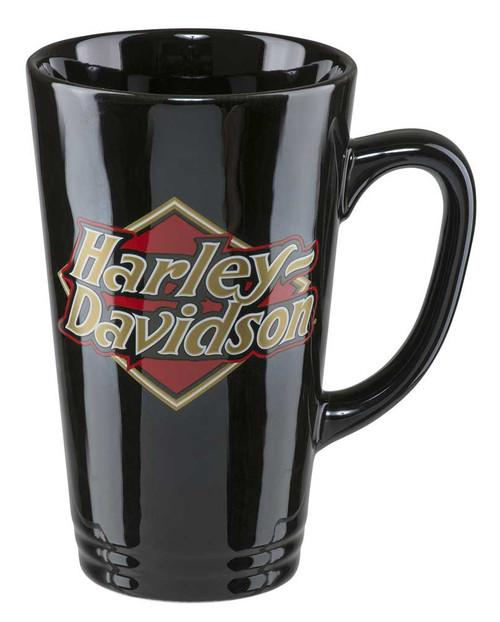 Harley-Davidson® Core H-D Logo Latte Mug, 16 oz. - Gloss Black HDX-98608 - Wisconsin Harley-Davidson