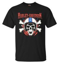 Harley-Davidson® Men's RWB Helmet Skull Short Sleeve Crew Neck T-Shirt, Black - Wisconsin Harley-Davidson
