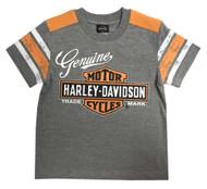 Harley-Davidson® Little Boys' Genuine Short Sleeve Jersey Tee, Gray 1072827 - Wisconsin Harley-Davidson