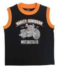 Harley-Davidson® Little Boys' H-D Motorcycle Jersey Muscle Tee - Black 1072825 - Wisconsin Harley-Davidson