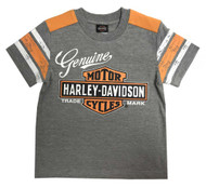 Harley-Davidson® Little Boys' Genuine Short Sleeve Jersey Tee, Gray 1082827 - Wisconsin Harley-Davidson
