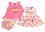 Harley-Davidson® Baby Girls' Glitter Newborn 2-Pack Sundresses w/ Bottoms 9002811 - Wisconsin Harley-Davidson
