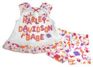 Harley-Davidson® Baby Girls' Interlock Aline Sundress & Shorts Set, White 2002817 - Wisconsin Harley-Davidson