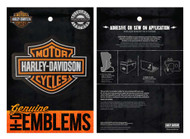 Harley-Davidson® Genuine Bar & Shield Logo Leather Emblem Patch, 4 x 3 inches - Wisconsin Harley-Davidson