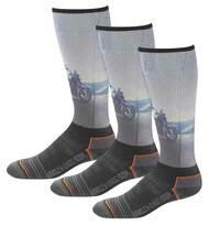 Harley-Davidson® Men's Bike Graphic Wicking Riding Socks, 3 Pairs D99218670-001 - Wisconsin Harley-Davidson