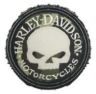 Harley-Davidson® Genuine Camo Willie G Skull Frayed Emblem Patch, 3.5 inch - Wisconsin Harley-Davidson