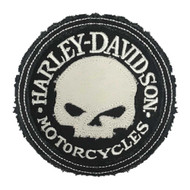 Harley-Davidson® Genuine Willie G Skull Frayed Emblem Patch, 3.5 in. HDEMF1016 - Wisconsin Harley-Davidson