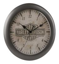 Harley-Davidson® Core Trademark Bar & Shield Logo Clock, 11 inch HDX-99105 - Wisconsin Harley-Davidson
