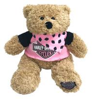 Harley-Davidson® Babe 12 in. Huggy Stuffed Plush Bear, Black & Pink 9900851 - Wisconsin Harley-Davidson