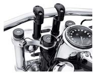 Harley-Davidson® Gloss Black Upper Fork Nut Covers - Gloss Black Finish 45800015 - Wisconsin Harley-Davidson