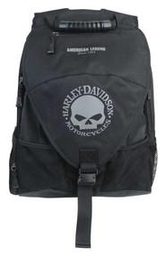 Harley-Davidson® Vintage Willie G Skull Voyager Backpack, Black BP4134S-GRYBLK - Wisconsin Harley-Davidson