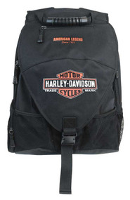 Harley-Davidson® Vintage Bar & Shield Voyager Backpack, Black BP4165S-ORGBLK - Wisconsin Harley-Davidson