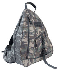 Harley-Davidson® Camo Print Canvas Bar & Shield Sling Backpack MC2738S-CAMO - Wisconsin Harley-Davidson