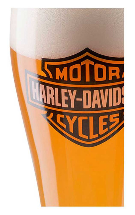 Harley-Davidson® Core Bar & Shield Logo Pilsner Glass - 22 oz. HDX-98709 - Wisconsin Harley-Davidson