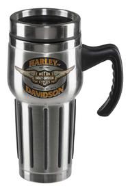 Harley-Davidson® Core Winged Bar & Shield Travel Mug - Stainless Steel HDX-98610 - Wisconsin Harley-Davidson