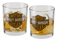 Harley-Davidson® Core Bar & Shield Double Old Fashioned Set - 10 oz. HDX-98707 - Wisconsin Harley-Davidson
