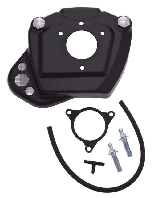 Ciro Throttle Body Servo Cover w/Breather, Fits H-D Touring Models - Black 35131 - Wisconsin Harley-Davidson