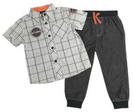Harley-Davidson® Little Boys' Plaid Shirt & Black Denim Pant 2-Piece Set 2071809 - Wisconsin Harley-Davidson