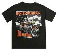 Harley-Davidson® Little Boys' Loud & Proud Short Sleeve Tee, Black 1580724 - Wisconsin Harley-Davidson
