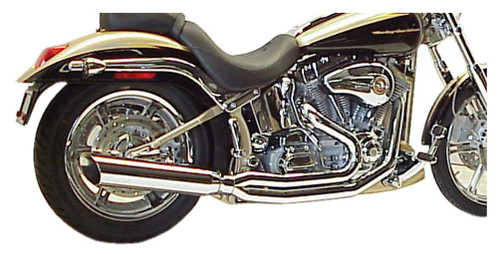 D&D 2:1 Boarzilla Head Pipe, Fits 84-99 Softail Models, Chrome Finish 463-HP - Wisconsin Harley-Davidson