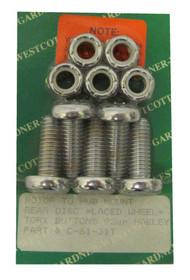 Gardner & Westcott Disc Brake Rotor To Hub Rear Kit, Harley-Davidson® C-61-31-T - Wisconsin Harley-Davidson