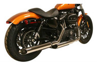 Rush Racing Baloney Cut Slip-On 2 in. Muffler - Chrome Finish 29704-200 - Wisconsin Harley-Davidson