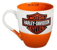 Harley-Davidson® Two Ceramic Cups O'Java Gift Set, 18 oz. Black & Orange 3MCF4900 - Wisconsin Harley-Davidson