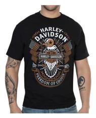 Harley-Davidson® Men's Freedom of Choice Short Sleeve Crew T-Shirt - Black - Wisconsin Harley-Davidson