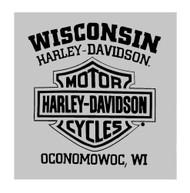 Harley-Davidson® Men's Old Days Distressed Short Sleeve T-Shirt - Heather Gray - Wisconsin Harley-Davidson