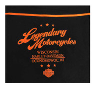 Harley-Davidson® Men's Infinity Premium Full-Zip Hooded Jacket, Black/Orange - Wisconsin Harley-Davidson