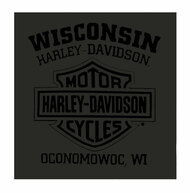 Harley-Davidson® Men's Ironhead H-D Script Short Sleeve T-Shirt - Charcoal - Wisconsin Harley-Davidson