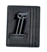 Harley-Davidson® Men's Black Label #1 Skull Front Pocket Wallet BLK UN7539L-Black