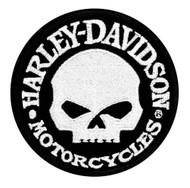 Harley-Davidson® Hubcap Skull Small Patch, 4'' W x 4'' H EM1029882 - Wisconsin Harley-Davidson