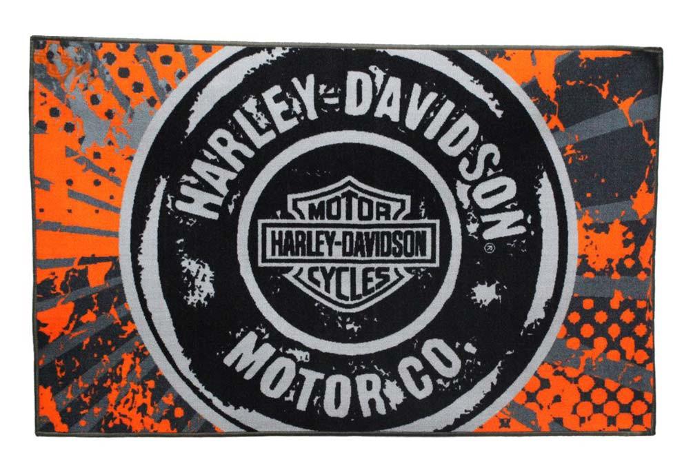 Harley Davidson 39 X 59 Free Road Tufted Rug Non Skid Backing