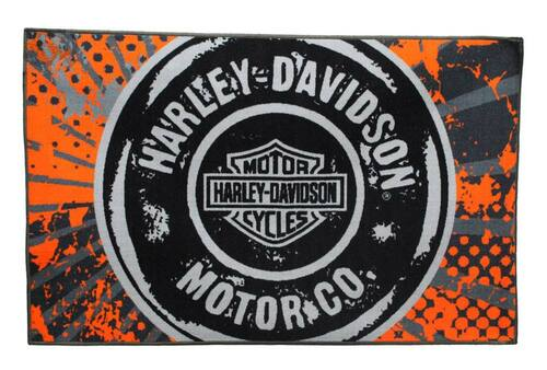 Harley-Davidson® 39 x 59 Free Road Tufted Rug, Non Skid Backing NW168619