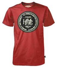 Harley-Davidson® Men's Black Label T-Shirt, Quality HDMC Goods, Washed Red