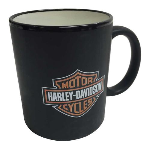 Harley-Davidson® Bar & Shield Logo Coffee Mug, Matte Black Mug HD-BSS-2207