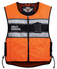 Harley-Davidson® Men's Hi-Vis Orange Riding Vest 98172-08VM - A